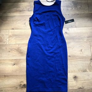Royal Blue Lulu's midi dress